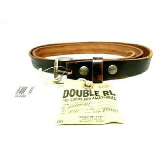ダブルアールエル(RRL)の新品 RRL ベルト double RL Leather Belt  レザーベル(ベルト)