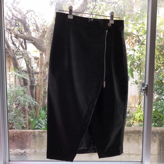 フォーエバートゥエンティーワン(FOREVER 21)のFOREVER21 レザースカート 黒(ロングスカート)