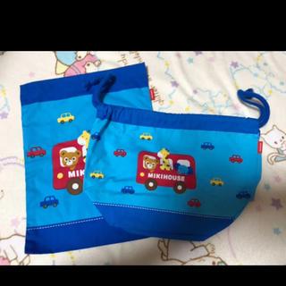 ミキハウス(mikihouse)のミキハウス お弁当袋とコップ袋セット(ランチボックス巾着)