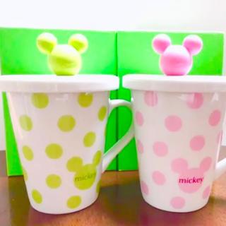 Disney - ★【未使用品】DisneyMickeyマグペア/マグカップ2個セット/蓋付きフタ