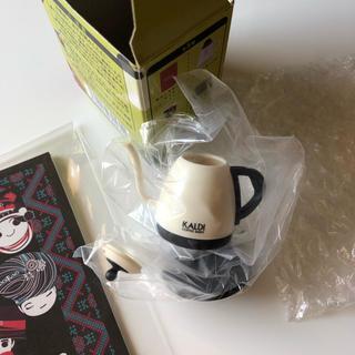 カルディ(KALDI)のKALDI コーヒーグッズ ミニチュアフィギュア 電気コーヒーポット(ノベルティグッズ)