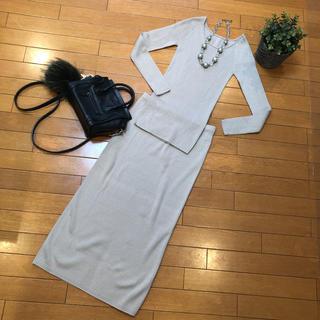 DEUXIEME CLASSE - 新品同様ウィムガゼットニットセットアップロングスカート