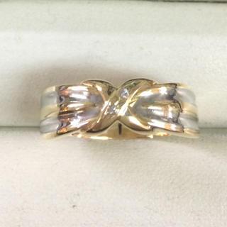 ★大きめの20号★K18&プラチナPt900ダイヤモンド・デザインリング★(リング(指輪))