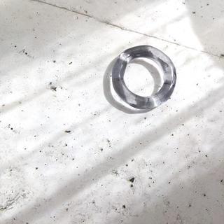クリアグレー  リング  約7〜8号(リング(指輪))
