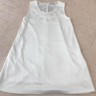 ダズリン(dazzlin)のダズリン 白ワンピースAライン 式服(ミニワンピース)