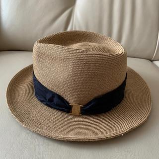 バーニーズニューヨーク(BARNEYS NEW YORK)のアシーナニューヨーク ハット 帽子(麦わら帽子/ストローハット)