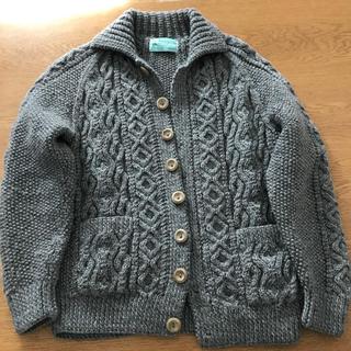 インバーアラン(INVERALLAN)のINVERALLAN(インバーアラン)の襟付きのカーディガンニット3A美品(ニット/セーター)