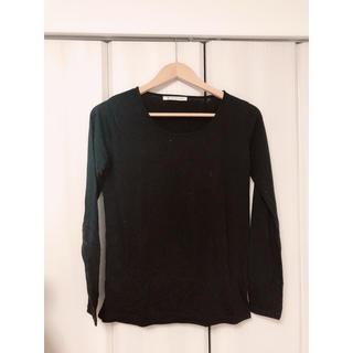 マジェスティックレゴン(MAJESTIC LEGON)のUネック Tシャツ 長袖 ブラック(Tシャツ(長袖/七分))