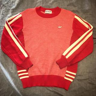 アディダス(adidas)のadidas 80〜90s アディダス 赤セーター ビンテージ(ニット/セーター)
