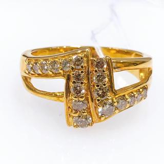 K18 ブラウンダイヤモンド 透かしリング(リング(指輪))