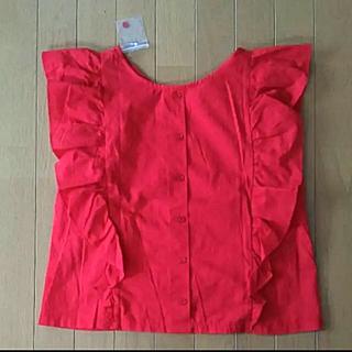 ネストローブ(nest Robe)の新品未使用 袖フリルブラウス 背中ボタン (シャツ/ブラウス(半袖/袖なし))