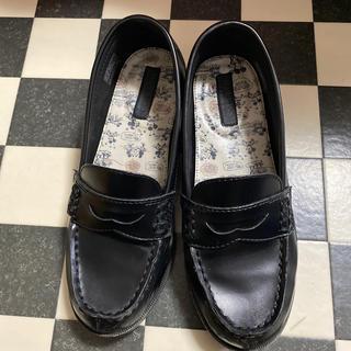 ホーキンス(HAWKINS)のホーキンス ディズニーコラボ ローファー 黒24.0センチ(ローファー/革靴)