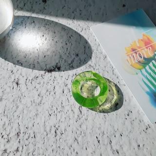 アメリヴィンテージ(Ameri VINTAGE)のchubby ring☽marble yellowgreen(リング)