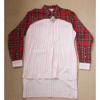ロエベ(LOEWE)の美品 Loewe ロエベ オーバーサイズ シャツ L タータンチェック タグ付き(シャツ)