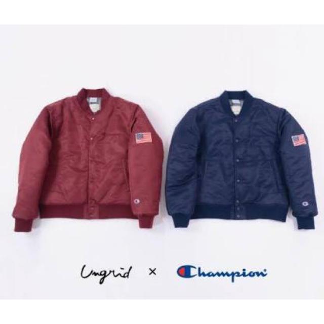 Ungrid(アングリッド)のUngrid/champion別注ナイロンブルゾン/ネイビー レディースのジャケット/アウター(ブルゾン)の商品写真