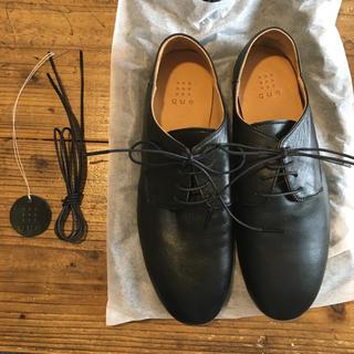 ネストローブ(nest Robe)のque  derby 黒M(ローファー/革靴)