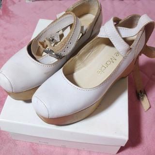 ジェーンマープル(JaneMarple)のジェーンマープル 厚底 バレリーナ オフホワイト 結婚 ウエディングドレス(ローファー/革靴)
