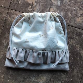 キャサリンコテージ(Catherine Cottage)の【handmade】フリル 巾着袋 コップ袋  さくらんぼ(ランチボックス巾着)