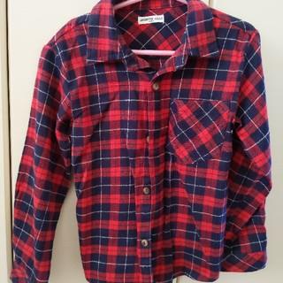 シマムラ(しまむら)のチェックシャツ 120cm(ブラウス)