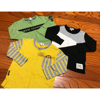 サンカンシオン(3can4on)の長袖 ロングTシャツ 3点セット(Tシャツ/カットソー)