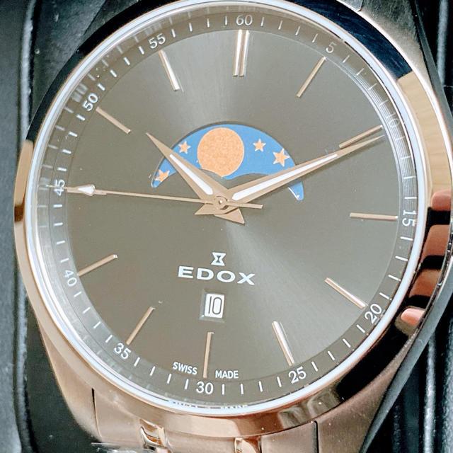 EDOX - ◆激レア◆EDOX◆エドックス◆腕時計◆メンズ◆クォーツ◆ムーンフェイズの通販