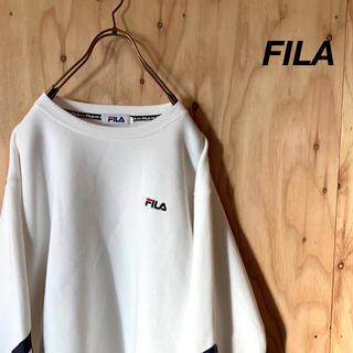 FILA - FILA サイドビッグロゴ ワンポイント刺繍 スウェット  ビッグシルエット