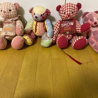 ピンクハウス(PINK HOUSE)のピンクハウス  バッグ レア テディベアー カラフル ギンガムチェッ4体(ぬいぐるみ/人形)