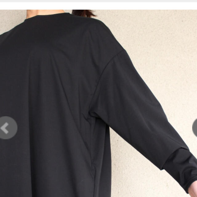 nest Robe(ネストローブ)のR&D.M.Co ジャージープルオーバードレス ブラック レディースのワンピース(ロングワンピース/マキシワンピース)の商品写真