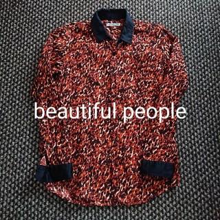 ビューティフルピープル(beautiful people)のbeautiful people レオパード柄 クレリックシャツ 派手シャツ(シャツ)