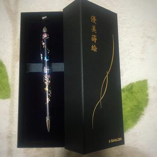 セーラー(Sailor)のセーラー万年筆 多機能ペン 2色+シャープ 優美蒔絵 枝垂桜 ブラック(ペン/マーカー)