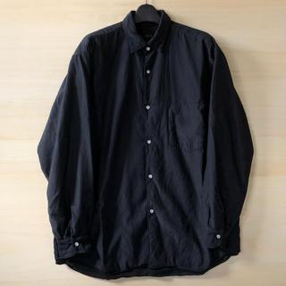 コモリ(COMOLI)の19AW comoli サイズ1 ナイロンシルク中綿シャツジャケット(ナイロンジャケット)
