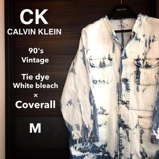 カルバンクライン(Calvin Klein)の【激レア1点物】Calvin klein ノーカラーデニムカバーオール(Gジャン/デニムジャケット)