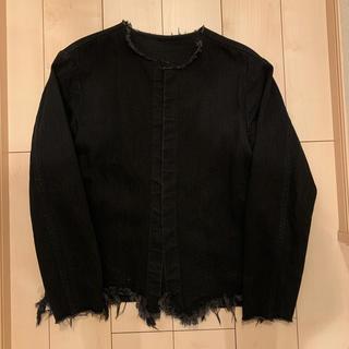 アンユーズド(UNUSED)のunused 黒 ノーカラージャケット サイズ2(ノーカラージャケット)