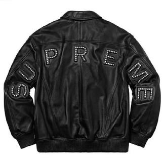 Supreme - 18ss Studded Arc Logo Leather Jacket
