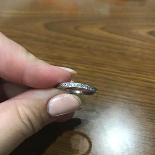 プラチナ900ピンクダイヤモンドリング(リング(指輪))