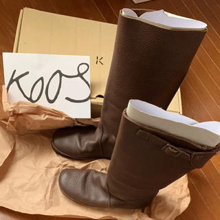 コース(KOOS)のKOOS レザーブーツ(ブーツ)