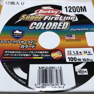 シマノ(SHIMANO)のスーパーファイヤーライン 1,5号 新品未使用 1200M(釣り糸/ライン)