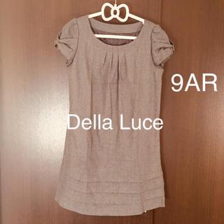 9AR Della Luce グレー ワンピース フォーマル デラルーチェ 半袖(ひざ丈ワンピース)