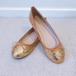 メルロー(merlot)の《◆即納◆》グリッターシューズ★バレエシューズ★フラットシューズ★ぺたんこ靴(バレエシューズ)