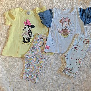 ディズニー(Disney)の交渉中   女の子 80 ❤︎ 半袖 ズボン ❤︎ ミニー まとめ売り(Tシャツ)