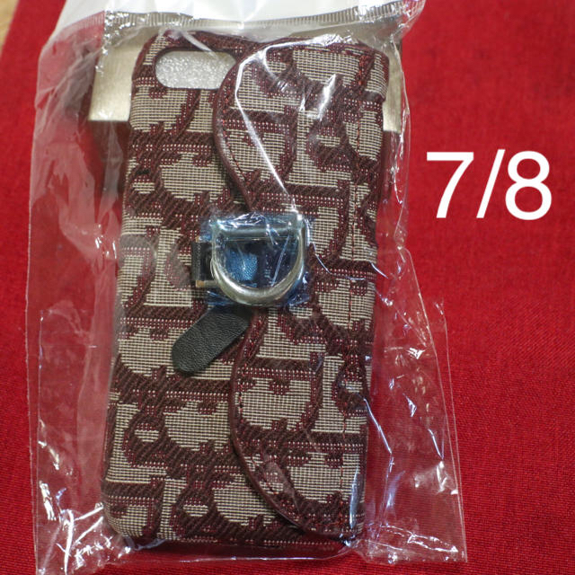 Christian Dior - トロッター柄 iPhone7/8ケース 赤の通販