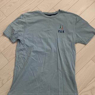 アエロナウティカミリターレ(AERONAUTICA MILITARE)のAERONAUTICAMILITARE  イタリア国旗ロゴ水色Lサイズ(Tシャツ/カットソー(半袖/袖なし))