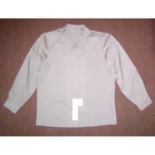 新品 17号 リボン付きオフィスブラウス 事務服 OL制服 大きいサイズT627(シャツ/ブラウス(長袖/七分))