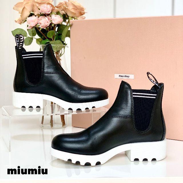 miumiu(ミュウミュウ)の1269 極美品 ミュウミュウ サイドゴアブーツ レディースの靴/シューズ(ブーツ)の商品写真
