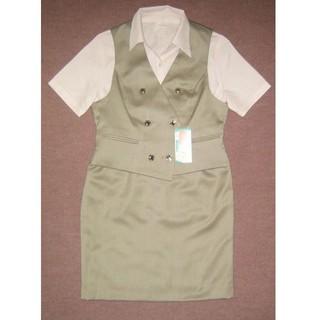 新品 5号 小さいサイズ OL制服 事務服 オフィススーツF316(ベスト/ジレ)