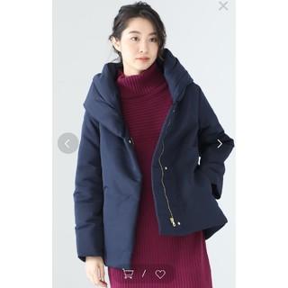 IENA - 完売★新品未使用 ネイビー ボリュームネックショートダウンコート ジャケット