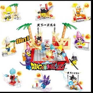 レゴ(Lego)のドラゴンボール超 レゴLEGO互換ブロックミニフィグ8体セット スーパーサイヤ人(キャラクターグッズ)