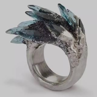 ヴィンテージパンクブルージルコン 傾い女性のための奇抜なデザインカクテル (リング(指輪))