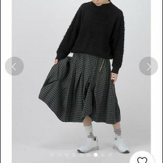 メルシーボークー(mercibeaucoup)のメルシーボークー スカート 美品 おちつきチェック(ひざ丈スカート)