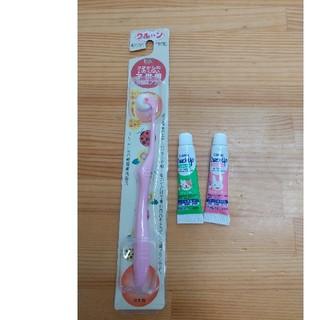 ライオン(LION)のクルンいたくない子供用回転歯ブラシ、チェックアップ歯磨き粉2本(歯ブラシ/歯みがき用品)